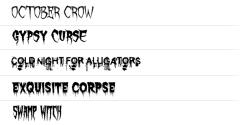 ★ Horror for FlipFont® free screenshot 1/1