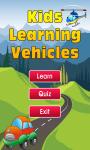 Kids Learning Vehicles screenshot 1/3