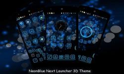 NeonBlue Next Launcher 3D Theme screenshot 1/4
