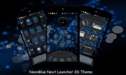 NeonBlue Next Launcher 3D Theme screenshot 2/4