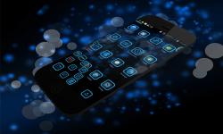 NeonBlue Next Launcher 3D Theme screenshot 3/4