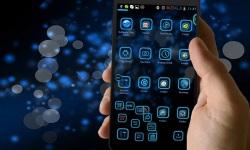 NeonBlue Next Launcher 3D Theme screenshot 4/4