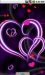 Purple Heart Love Live Wallpaper LWP screenshot 1/4