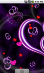 Purple Heart Love Live Wallpaper LWP screenshot 2/4