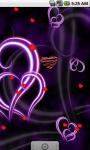Purple Heart Love Live Wallpaper LWP screenshot 3/4