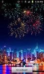 Christmas NewYear Fireworks Live Wallpaper screenshot 1/4