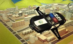 Flying Police car 3d simulator screenshot 1/4
