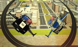 Flying Police car 3d simulator screenshot 2/4