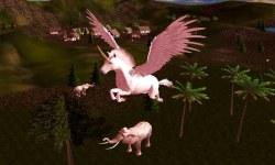 Flying Unicorn Simulator 3D screenshot 2/3