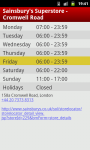 My Opening Hours screenshot 2/6