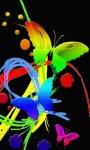 Neon Butterflies Live wallpaper screenshot 1/3
