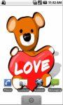 Bear With Heart Live Wallpapers screenshot 1/3