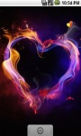 Fire Heart Love Live Wallpaper screenshot 2/5