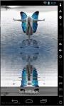 Blue Butterfly Girl Live Wallpaper screenshot 1/2