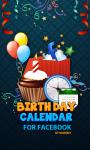 Birthday Calendar for Facebook screenshot 1/4