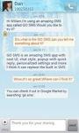 GO SMS Pro Iceblue theme screenshot 5/6