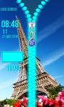Top Paris Zipper Lock Screen screenshot 5/6