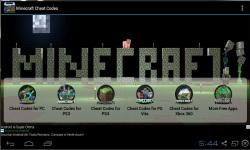 Minecraft Cheat Codes 2014 screenshot 1/3