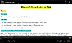 Minecraft Cheat Codes 2014 screenshot 3/3