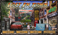 Free Hidden Object Game - Lost in Town  screenshot 1/4