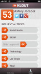 Klout for iPhone screenshot 2/5