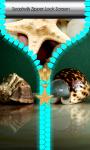Seashells Zipper Lock Screen screenshot 1/6