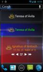 Catholic Saints Calendar Widgets screenshot 1/6