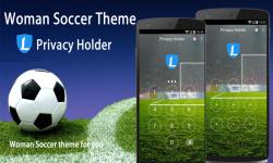 AppLock Theme Woman Soccer screenshot 3/3