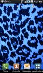 Blue Leopard Print Live Wallpaper screenshot 1/2