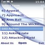 Cricket Terms Lite screenshot 2/2