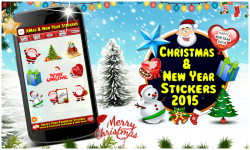 Christmas and New Year Stickers 2015 screenshot 1/6