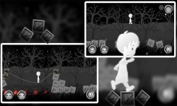 A Boy's Escape : Lost in the Haunted Dark Black screenshot 3/4