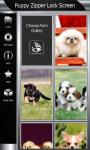 Puppy Zipper Lock Screen Top screenshot 4/6