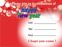 New Year Party Invitation Cards screenshot 2/3