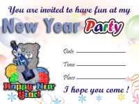 New Year Party Invitation Cards screenshot 3/3