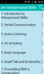 Learn Interpersonal Skills screenshot 1/3