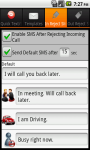 QText and Call Reject SMS AddFree screenshot 5/6