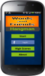 Words and Friends Hangman screenshot 1/5