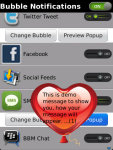 Bubble Notifications Free screenshot 4/5
