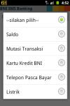 BNI SMS Banking screenshot 2/6