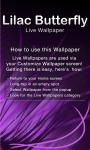 Lilac Butterfly Live Wallpaper screenshot 1/6
