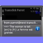 Translator Parrot for Blackberry screenshot 2/2