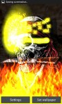 Pirate Skull on Flames LWP free screenshot 1/3