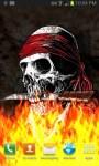 Pirate Skull on Flames LWP free screenshot 2/3