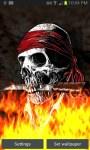 Pirate Skull on Flames LWP free screenshot 3/3