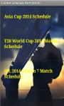 CricketSchedule Part1 2014 screenshot 3/4