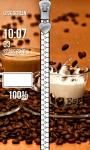 Coffee Zipper Lock Screen Free screenshot 4/6