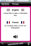lastminute.com Talking French Phrasebook screenshot 1/1