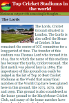 Top Cricket Stadiums in the world screenshot 3/3
