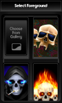Skulls Zipper Lock Screen Free screenshot 3/6
